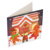 "CCK-XM32: ""Gingerbread Family"" Crystal Art Card Kit"