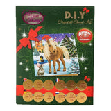 "CCK-XM37: ""Winter Horse"" Crystal Card Kit - Animal Club International"