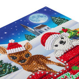 "CCK-XM38: ""Sled Characters"" Crystal Card Kit - Animal Club International"