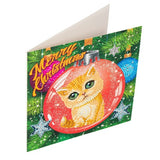 "CCK-XM39: ""Kitten Bauble"" Crystal Art Card Kit - Animal Club International"