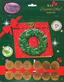 "CCK-XM62: ""Wreath, 18x18cm"" Crystal Art Card"