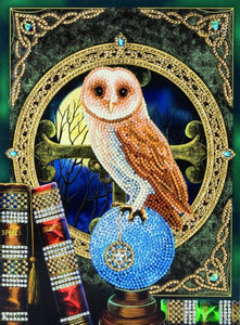 "CCKXL-1 ""Spell Keeper Owl"" Giant Crystal Art Card Kit"