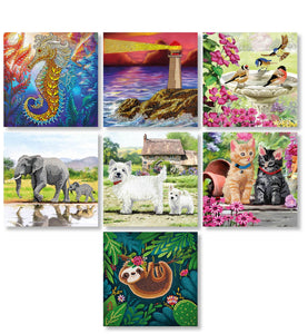 CCK-2020CARDSET7: Crystal Art Card Set of 7 - 18x18cm