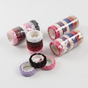 28 Rolls Of Self Adhesive Crochet Lace