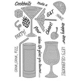 Craft Buddy Crystal Art Stamp Sets - Cocktail Sparkle - CCST12