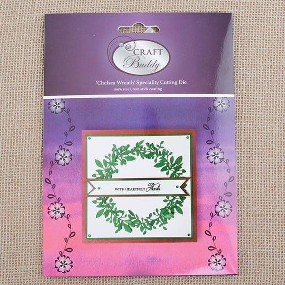 CBD33: Craft Buddy Chelsea Wreath Die Set