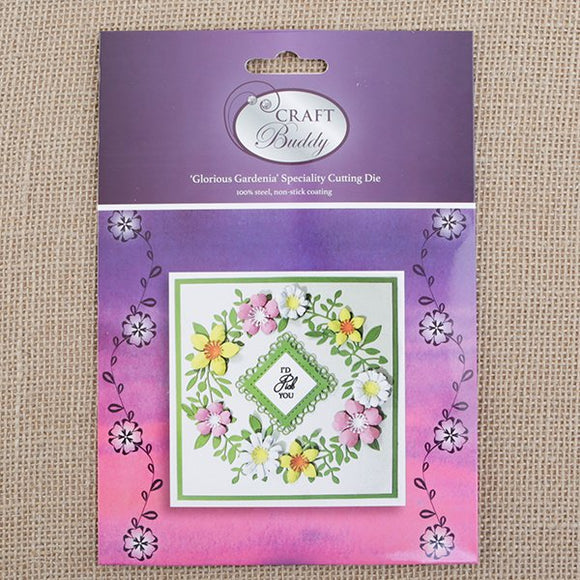 CBD37: Craft Buddy Glorious Gardenia Embellishments Die Set