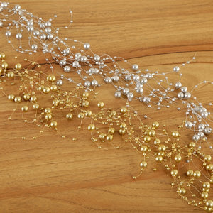 Craft Buddy Gold and Silver Pearl Garland - CB-GSGAR