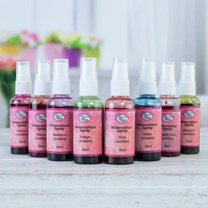 Craft Buddy Watercolour Sprays Complete Collection Set of 8