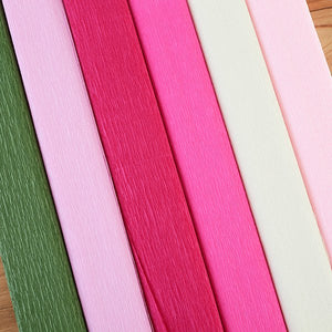 Craft Buddy Crepe Paper Assortment set of 6 - In the Pink - CB-PNK