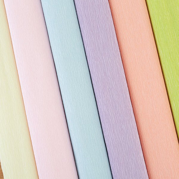 Craft Buddy Crepe Paper Assortment set of 6 - Pastel Posy - CB-PAS
