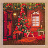 CS02: Craft Buddy Pre Printed 40*40cm Cross Stitch Kit - Christmas Joy