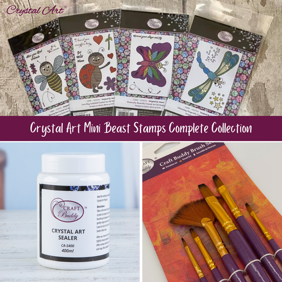CCST-COMP2: Craft Buddy Crystal Art Mini Beast Stamps Complete Collection