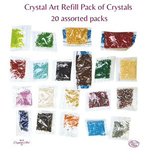 CR20: Craft Buddy Crystal Art Refill Pack of Crystals - 20 assorted packs