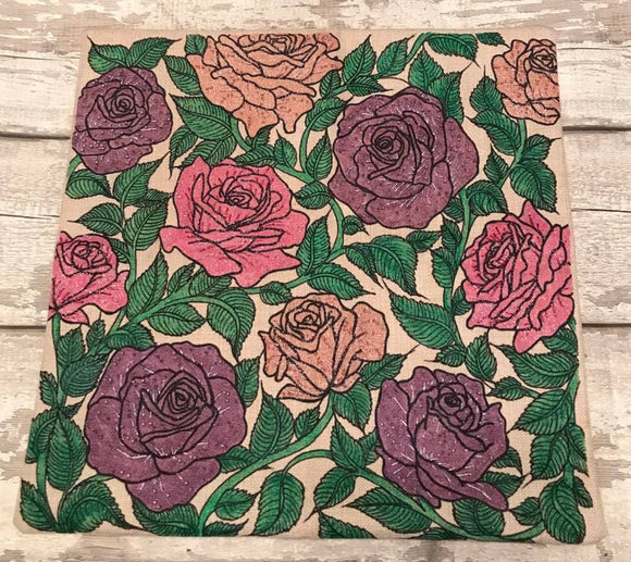 Craft Buddy Paint Me Cushion Kit - Ravishing Roses - CUSH06