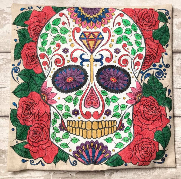Craft Buddy Paint Me Cushion Kit - Sugar Skull - CUSH07