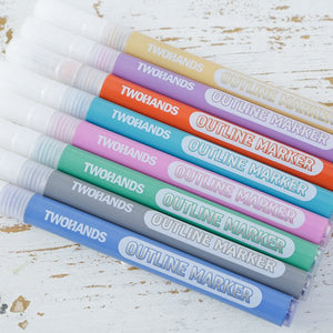 TH-KT2: Set of 8 Double Line Metallic Markers