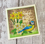 CCST19: Craft Buddy Hello Spring, Crystal Art A5 Stamp Set