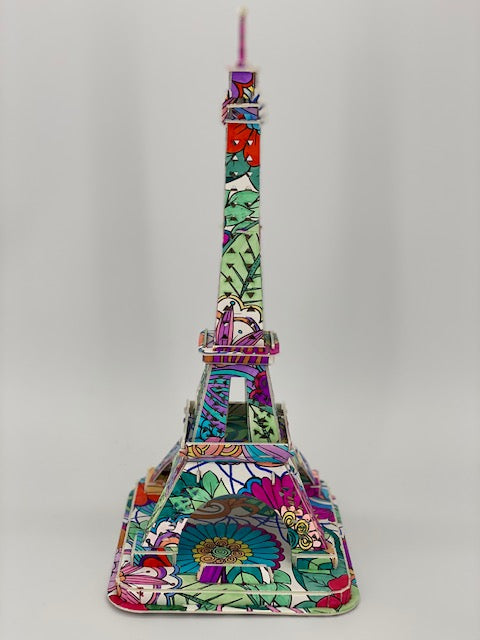 P3D004: Craft Buddy 3D Colour Me Puzzle Kits - Eiffel Tower