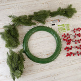 Forever Flowerz Festive Wreath kit with Pine, Berries and Accessories - FF-XMWR1