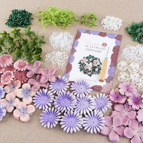 Forever Flowers Vintage Flower Mix makes approx 105 Flowers