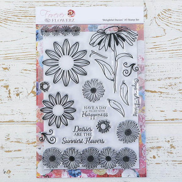 FS09: Forever Flowerz: Delightful Daisies A5 Stamp Set