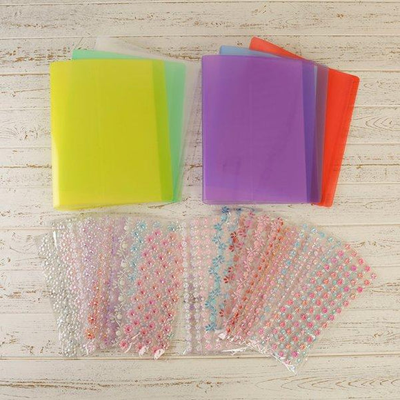 Craft Buddy Set of 6 Gem Folders with 24 Sheets of Decorative Borders