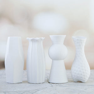 Forever Flowers Tall Ceramic Vases Kit - Set of 4 - FF-VASEP1