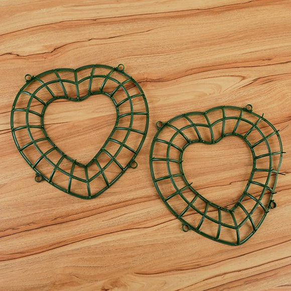 Forever Flowerz 35cm Heart Wreath Blanks Set of 2 - FF_HWR2KT