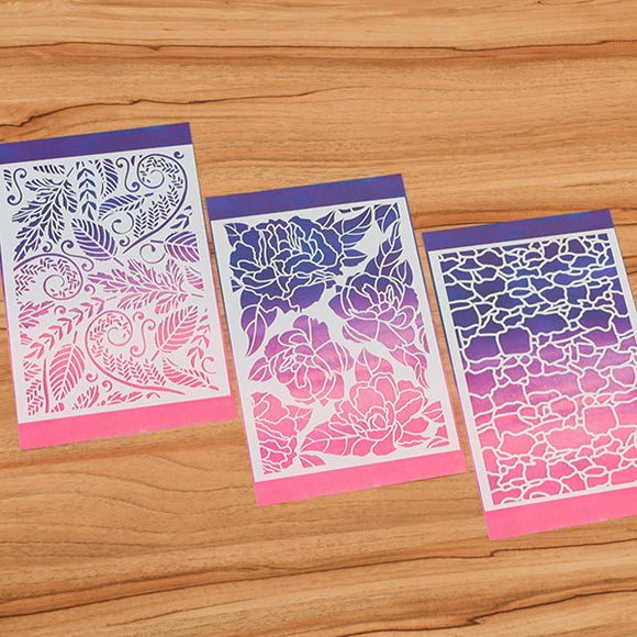 Forever Flowerz Perfect Peonies Stencils Set of 3 - FSTN07*3
