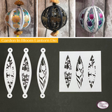 Craft Buddy Decorative Lantern Die, coordinating Stamp Set, Assorted Cards and Papers with Bonus Organza Ribbon - OPTIONS AVAILABLE