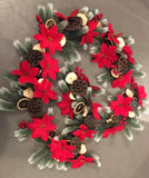 CB-FGAR3: Forever Flowerz Pretty Poinsettias Garland Kit - Snowy