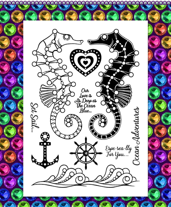 Gem It! Stamps - Seahorse Surprise