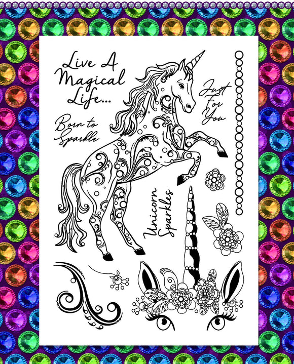 Gem It! Stamps - Sparkling Unicorn