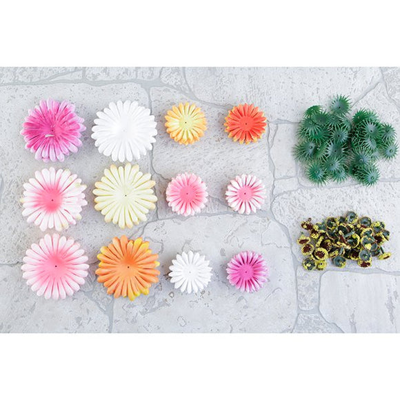 FF-GERB-PAS: Forever Flowerz Gorgeous Gerberas - PASTELS makes approx 90 flowers