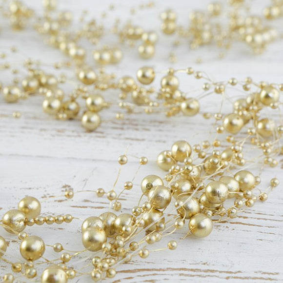 Craft Buddy Gold Pearl Garland x 2