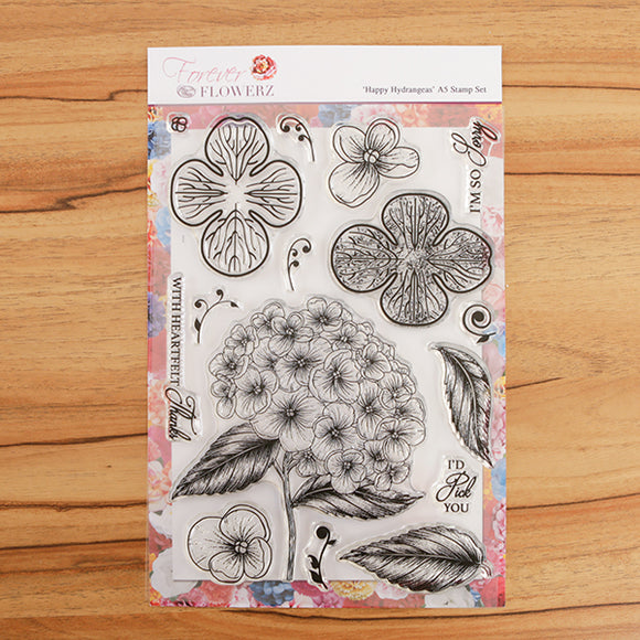 Forever Flowerz Happy Hydrangeas A5 Stamp Set - FS08