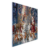 "CAK-A54: ""Christmas in the Forest"" Framed Crystal Art Kit, 90 x 65cm (Giant Kit)"