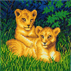 "CAK-A72: ""Lion Cubs"" 30 x 30cm (Medium)"