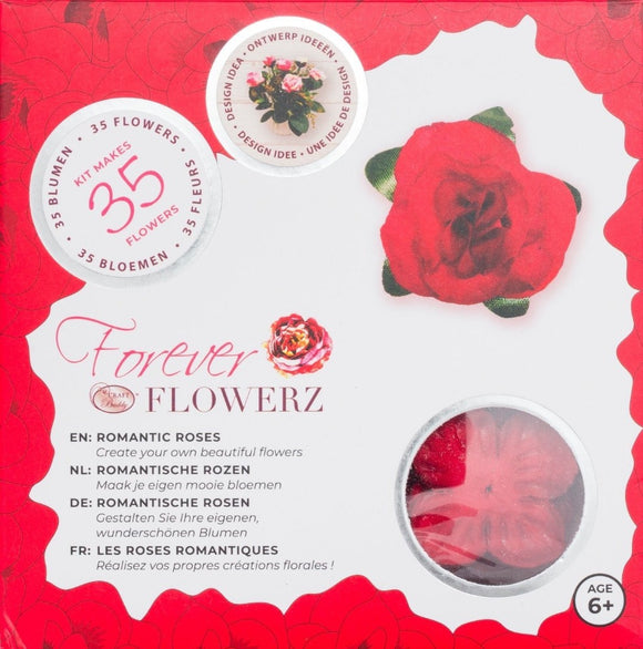 Flower Making Kit - Romantic Roses - RED - FF05RD