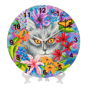 "CLK-S2: ""Clever Cat"" Crystal Clock Kit - 30cm"