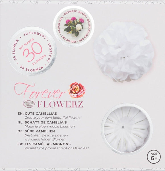 Flower Making Kit - Cute Camellias - WHITE - FF01WH