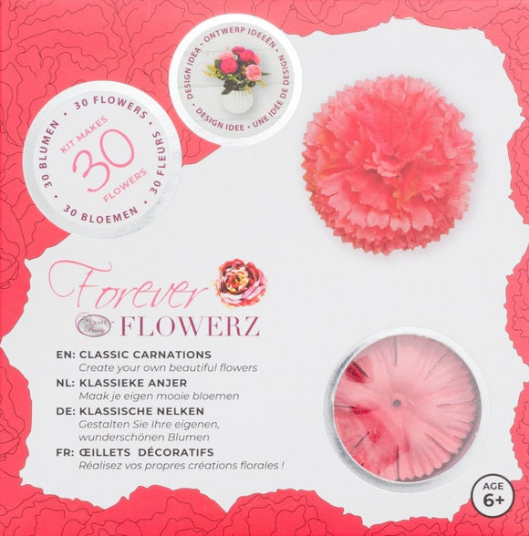 Flower Making Kit - Classic Carnations - PINK - FF03PK