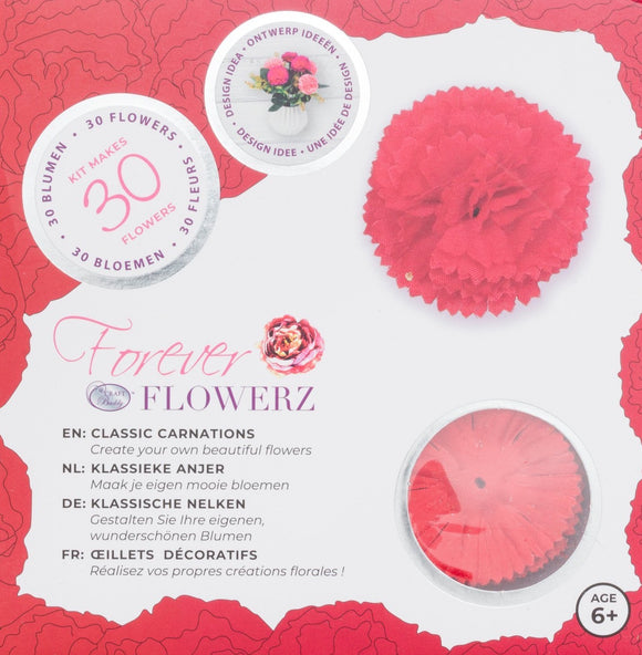 Flower Making Kit - Classic Carnations - RED - FF03RD