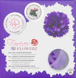 Flower Making Kit - Chic Chrysanthemums - PURPLE - FF02PR