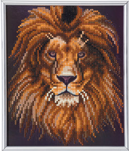 "CAM-23: ""Lion"" Crystal Art Picture Frame Kit, 21 x 25cm"