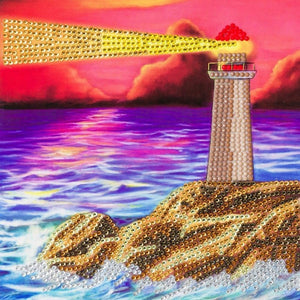 "CCK-A49 ""Lighthouse"" Crystal Art Card Kit"