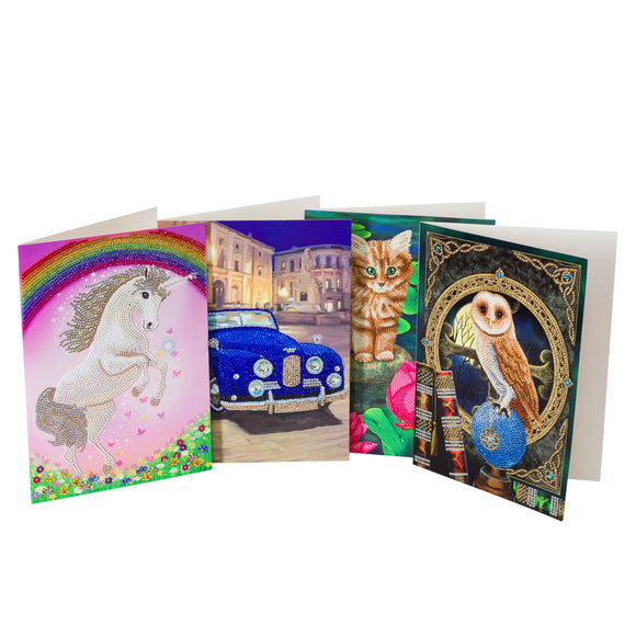 TV SET - Giant Cards Full Set of 4
