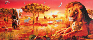 "CAK-AC3: ""Sunset Safari"" Framed Crystal Art Kit, 40 x 90cm"