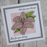 CCST25: Luminous Lily Crystal Art A6 Stamp Set